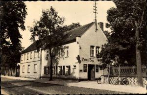 Ak Doberlug Kirchhain in Brandenburg, HOG Grüner Berg, Außenansicht, Straßenseite