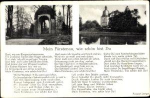 Gedicht Ak Fürstenau in Niedersachsen, Ehrenmal, Schloss, Mein Fürstenau wie schön bist Du