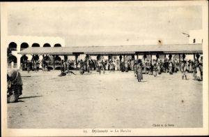 Ak Djibouti Dschibuti, Le Marché, Marktplatz