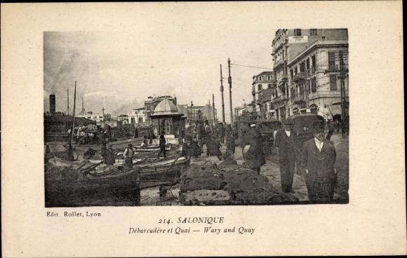 Ak Thessaloniki Griechenland, Débarcadère et Quai