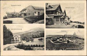 Ak Brotterode Trusetal Thüringen, Preussischer Gasthof, Gothaischer Gasthof,Hotel kleiner Inselsberg