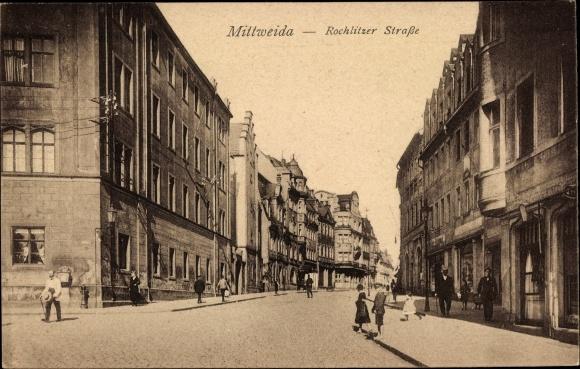 Ak Mittweida in Sachsen, Rochlitzer Straße