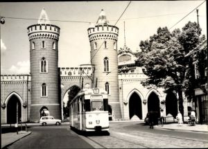 Ak Potsdam in Brandenburg, Nauener Tor, Tram 5 Wagen 168