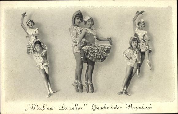 Ak Meiß'ner Porzellan, Geschwister Brumbach, Ballett