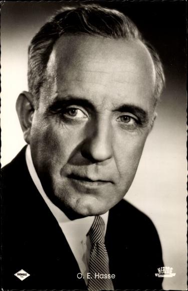 Ak Schauspieler O. E. Hasse, Portrait