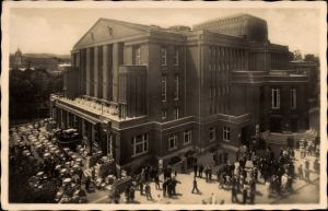 Ak Teplice Teplitz Schönau Reg. Aussig, Stadttheater, Terrasse