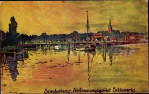 Künstler Ak Sønderborg Sonderburg Dänemark, Abstimmungsgebiet Schleswig