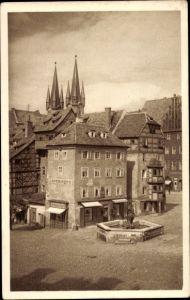 Ak Eger Reg. Karlsbad, Stöckl mit Brunnen