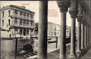 Ak Venezia Venedig Veneto, Fondaco dei Turchi e Palazzo Vendramin