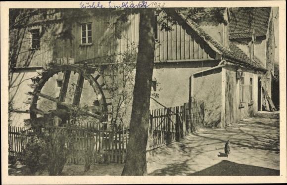 Ak Lindhardt Naunhof im Kreis Leipzig, Mühle Lindhardt