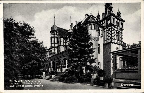 Ak Dresden Nordost Weißer Hirsch, Kurhaus