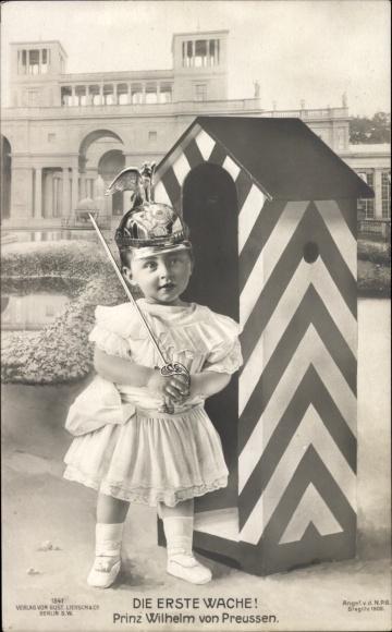 Ak Prinz Wilhelm von Preußen, Der jüngste Hohenzoller, Die erste Wache