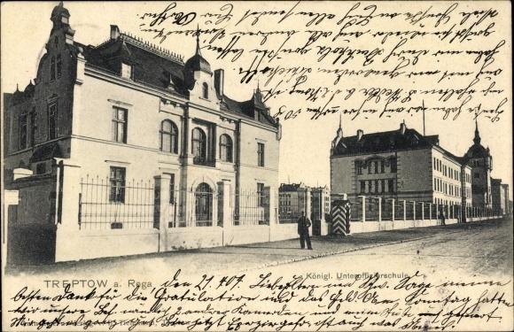 Ak Trzebiatów Treptow Rega Pommern, Königl. Unteroffiziersschule