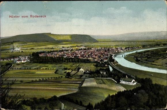 Ak Höxter in Nordrhein Westfalen, Höxter vom Rodeneck