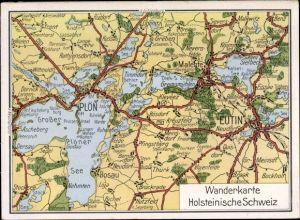 Landkarten Ak Eutin in Ostholstein, Wanderkarte Holsteinische Schweiz