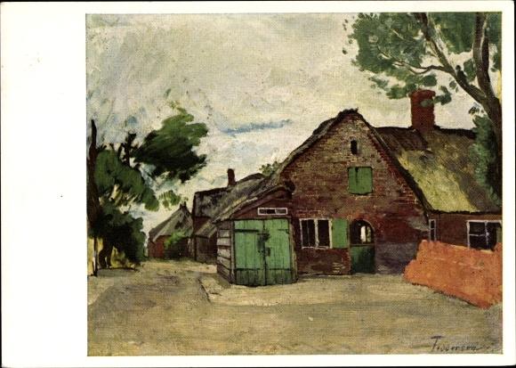 Künstler Ak Feddersen, Hans Peter, Niebüll in Nordfriesland, Portefees Haus