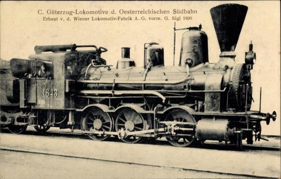 Ak Österreichische Eisenbahn, Dampflok, C Güterzug Lok, 1643
