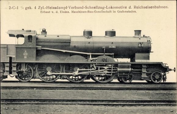 Ak Deutsche Eisenbahn, Dampflokomotive, 2C1 3/6 gek 4. Zyl Heißdampf Verbund Schnellzug, Nuthe