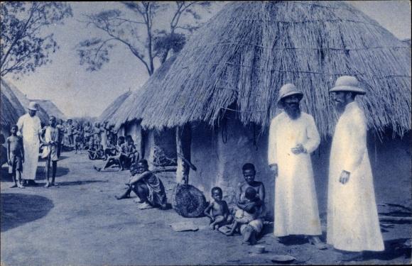Ak Franz. Kongo, Missions d'Afrique, Un village congolais