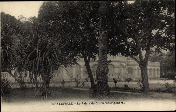 Ak Brazzaville Franz. Kongo, Le Palais du Gouverneur général