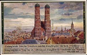 Künstler Ak Durst, München Bayern, Petersturm