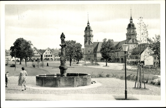 Ak Freudenstadt im Nordschwarzwald, Marktplatz mit Stadtkirche