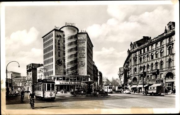 Ak Frankfurt am Main, Kaiserplatz, Juniorhaus, Reklame Persil, Ata, Bosch, Air France, Heine Tuche