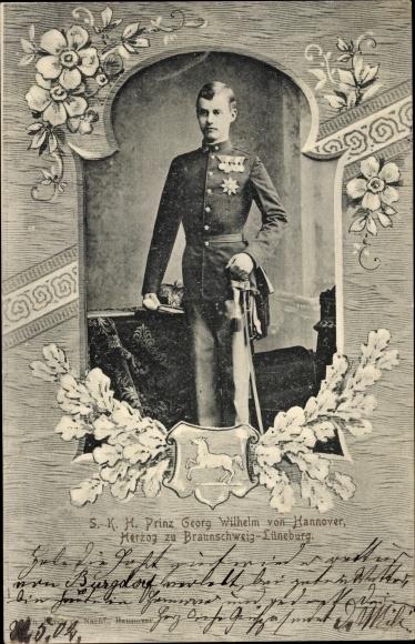 Passepartout Ak Prinz Georg Wilhelm von Hannover, Herzog zu Braunschweig Lüneburg