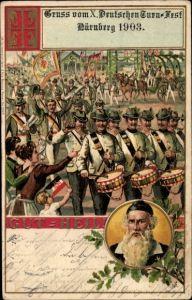 Litho Nürnberg, X. Deutsches Turnfest 1903, Turnvater Jahn