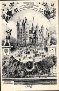 Künstler Ak Limburg an der Lahn Hessen, 40jh Jubiläum der freiw. Feuerwehr 1907