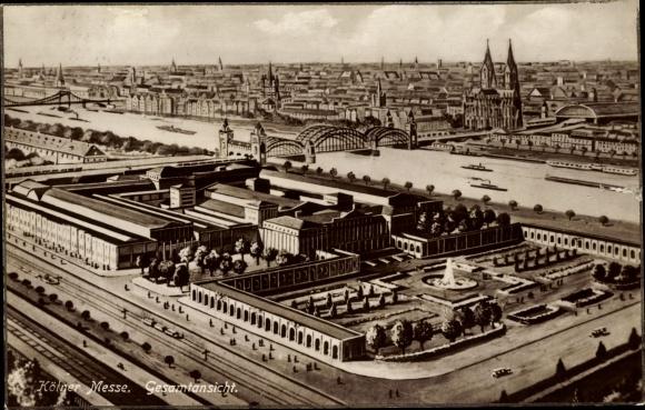 Ak Köln am Rhein, Kölner Messe, Gesamtansicht