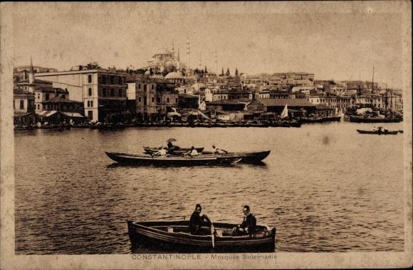 Ak Konstantinopel Istanbul Türkei, Mosquée Suleimanié