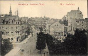 Ak Radeberg in Sachsen, Dresdner Straße, Neue Realschule