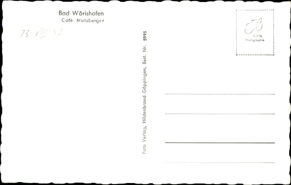 Ak Bad Wörishofen im Unterallgäu, Café Matzberger 1