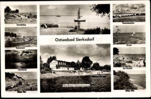 Ak Sierksdorf, Gasthaus Ostseestrand, Hohes Ufer, Strandleben