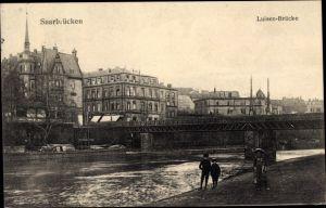 Ak Saarbrücken im Saarland, Luisenbrücke