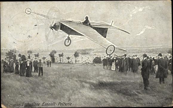 Künstler Ak L'aeroplane Esnault Pelterie, Flugzeug, Reklame Grains de Santé du Dr Franck