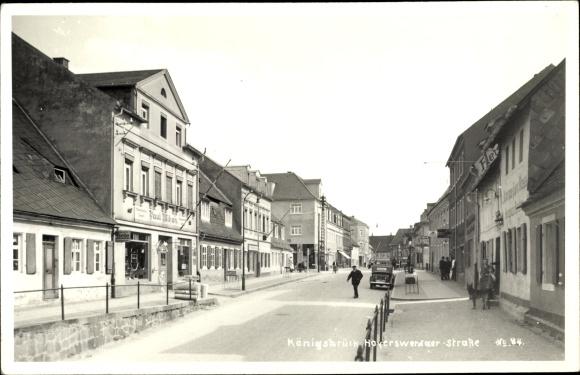 Ak Königsbrück in der Oberlausitz, Hoyerswerdaer Straße, Geschäft Paul Mihan