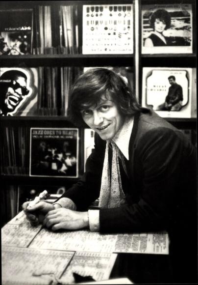 Ak Sänger Vaclav Neckar, Portrait, Zlaty Slavik, Schallplatten