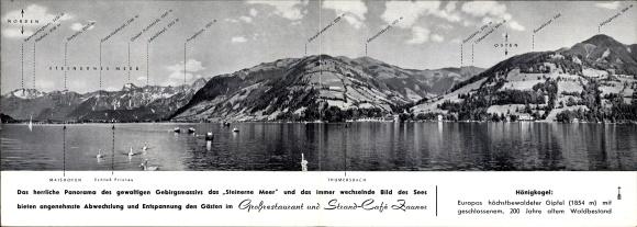 Klapp Ak Thumersbach Zell am See Salzburg, Hotel Zauner, Steinernes Meer, Hönigkogel, Prielau