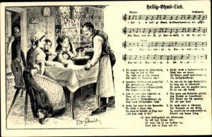 Lied Ak Heilig Ohmd Lied, Schneider, Rud.