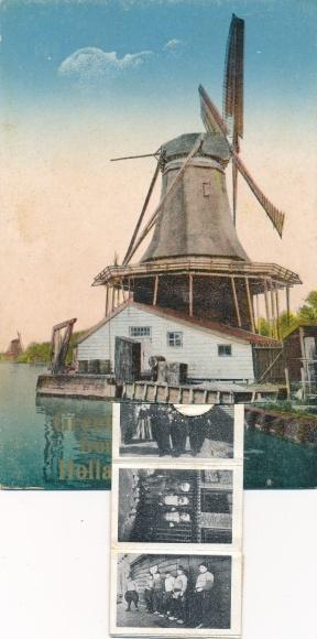 Leporello Ak Niederlande, Greetings from Holland, Trachten, Windmühle