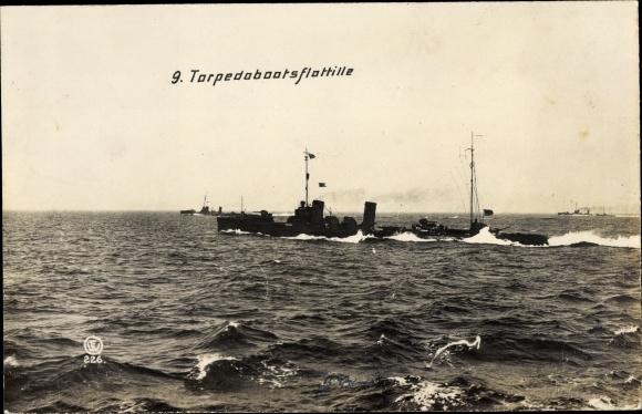 Ak Deutsche Kriegsschiffe, 9. Torpedobootsflottille