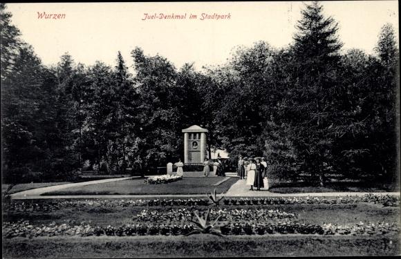 Ak Wurzen in Sachsen, Juel Denkmal im Stadtpark