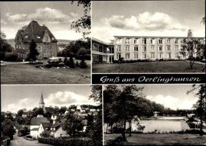 Ak Oerlinghausen Nordrhein Westfalen, Freibad, Teilansicht