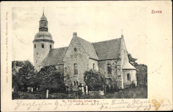 Ak Zeven in Niedersachsen, St. Viti Kirche