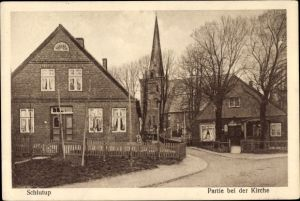 Ak Schlutup Lübeck in Schleswig Holstein, Kirche
