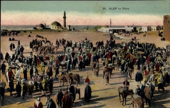 Ak Alep Aleppo Syrien, Foire, Markt
