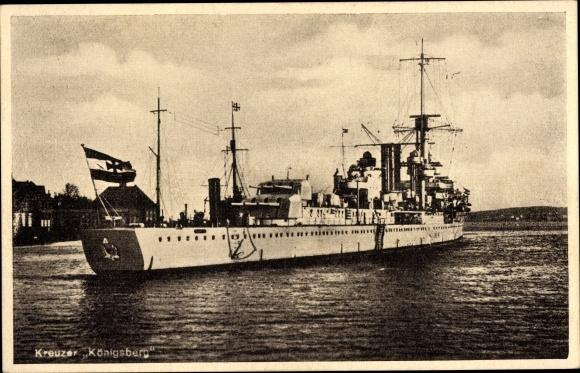 Ak Deutsches Kriegsschiff, Kreuzer Königsberg, Reichsmarine