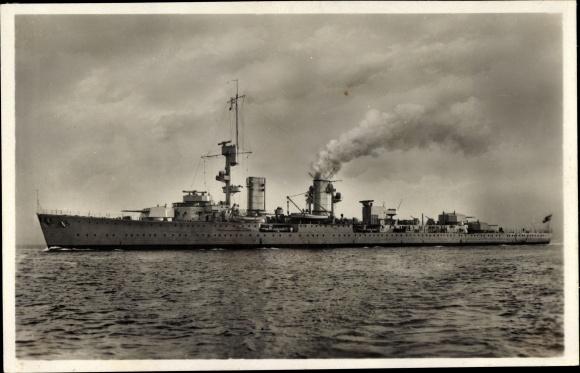 Ak Deutsches Kriegsschiff, Kreuzer Karlsruhe, Reichsmarine